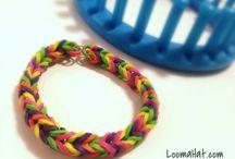 loom knit a bracelet