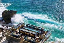 Sunset is by far the busiest time to get to  The Rock Bar Jl. Karang Mas Sejahtera Jimbaran, Bali