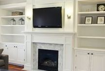 Fireplace and TV walls
