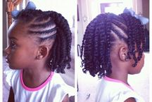 Natural kids hair styles