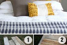 Čela postele domácí výroby