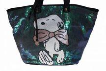 Snopy çanta / Payet işlemeli
