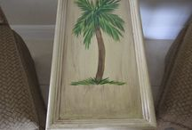 Custom Painted Tables / Faux Finishes and Murals on Tables