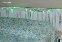 CABECEIRA DE CAMA / Cabeceira de cama de casal, madeira reciclada, quarto decoração, restauração,