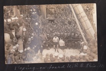 WWI Pics / Found 2 photo albums from WWI. They cover time spent on the USS Princess Matoika, a troop transport, France, Holland, a Naval hospital, Hoboken and some from home. Still researching to see who they belonged to originally. These first scans have not been touched up in any way.