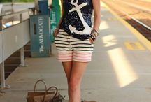 anchor  and nautical outfit / by Llamaris Llera