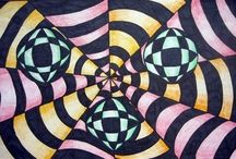 Art Lessons - 6th Grade Perspective & Op Art