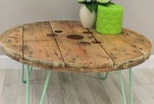 Cable reel coffe table ideas
