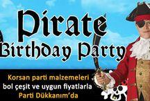 Korsan Parti Malzemeleri Doğum Günü Süsleri