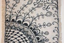 ARTS & CRAFTS: ZENTANGLE - ZEN DOODLING / by Valerie Fletcher