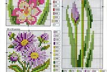 Cross stitch bunga bakung
