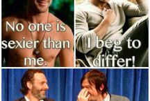 The walking dead / Mostly just Andrew Lincoln and Norman Reedus