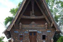 Rumah adat Batak Gorga