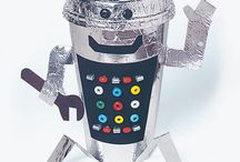 Robots, cosmos - craft for kids