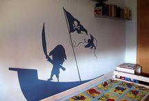 Trabajos propios (pinturas murales) / Own works (mural paintings)