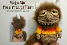 Amigurumi / Crochet small animals and cupcakes