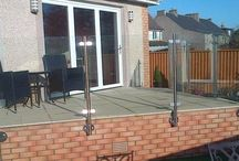 Face mounted stainless steel and glass balustrades at Handrails Direct & Scottish Balustrades