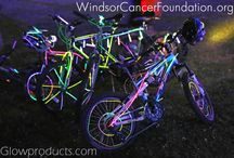 Glow Bike Rides / Glowing Bike Rides and Glow Bicycle Marathons are a fun glow in the dark event great for charity fundraising.