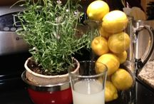 Lavender Infused Lemonade / Put your herb garden to great use this summer by adding some of your favorite herbs to lemonade or water.  Below is our super simple recipe for lavender infused lemonade. Enjoy!  There are two ways to make this recipe: 1) use store-bought lemonade or, 2) make your own homemade lemonade (water, sugar, lemons).