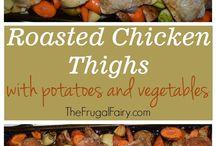 Roasted chicken n vegetables