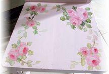 Hazlo tú mismo/Artesanías sillas pintadas con flores