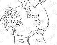 kisfiú virággal