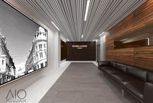 Modern lobby area / The main entrance of Riviera Luxury Residence Cluj Napoca