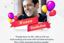 Celebrity Birthdays / iZofy's wishes on special day of celebrities.