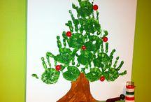 Handabdruck Tannenbaum