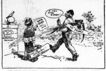 WW1 Newspaper Editorial Cartoons / Newspaper Editorial Cartoons during World War I