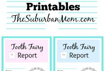 Tooth Fairy Visits / Fun ways to celebrate when your children start losing their baby teeth!