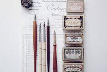 Objetos de escritorio bellos