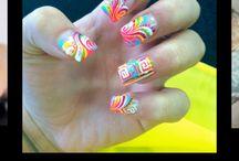 Nails hair and BFF  / Cute nails