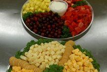 tablas de fiambres y vegetales