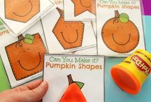 Pumpkin patch in preschool