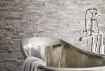 Slate, Granite & Splitface / The natural characteristics of slate, granite & Splitface Tiles will add a timeless feel to interiors.