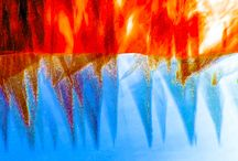 Fire on the Water by Craig Royal / Inverted reflections on water.