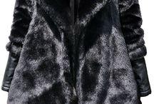 Kurtka Damska Futerko Skóra #115 / Najmodniejsza Elegancka Mięciutka Kurtka Damska Futerko + Skóra z Dużym Kołnierzem wiązana Paskiem Hit Najmowszy Model na Wiosnę Jesień Zimę 2016 / 2017 model #115 Promocja w sklepie FASHIONAVNUE