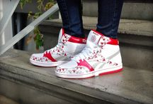 Reebok Courtee Mid 'White/Rbk Red/Silver' 91-J14790