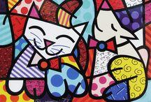 Romero Britto / Romero Britto (nacido en Recife, Brasil el 6 de octubre de 1963) es un pintor y escultor brasileño. Combina elementos del cubismo estereotipados, el arte pop y la pintura de graffiti en su trabajo. Actualmente vive en Miami, Florida, donde se puede ver su trabajo en muchas partes de la ciudad