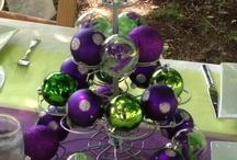 Chrismas table decorations