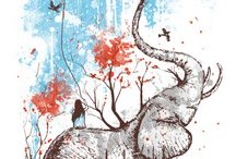 art - elephants