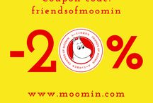 Friends of Moomin campaign / We're celebrating the launch of the new Moomin site and Japan with a -20% discount on all items at www.moomin.com and www.moomin.co.jp