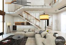 Luksusowy dom w Kielcach / Przestawiamy przestrzenne wnętrze domu w kielcach w nowoczesnym stylu w luksusowym klimacie. Kamień, drewno, beże i biele w roli głównej.