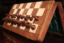 Folding Chess Boards / Folding wooden chess boards at sale
