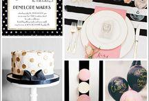 Black silver White pink
