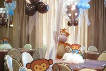 Baby Showers & Baby Namings / Our popular baby shower and baby naming decorations include: balloon rattles, baby themed diorama centerpieces, and bubble balloons with baby themed balloons inside.