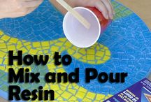 How to mix and pour resin