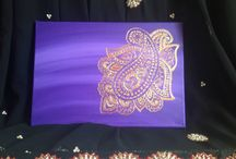 MK ART HENNA DESIGNED CANVASES