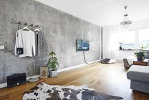 concrete living room